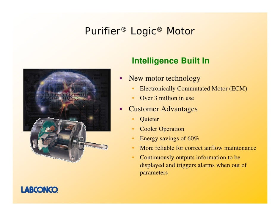 Purifier logic class ii biological safety cabinets for Electronically commutated motor ecm
