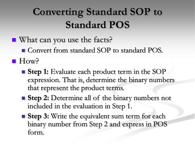 Logic Simplification Sop And Pos Forms