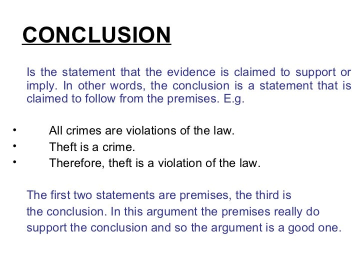 conclusion is