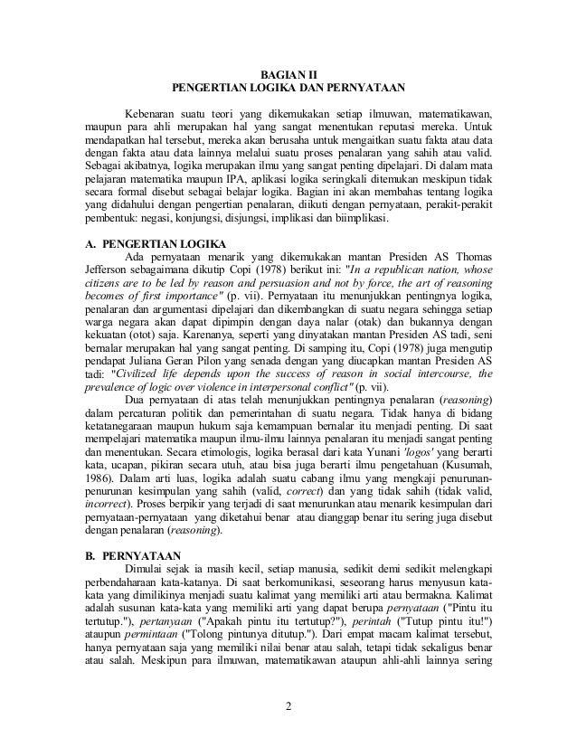 80 Logika Matematika Matematika Menyenangkan Artikel