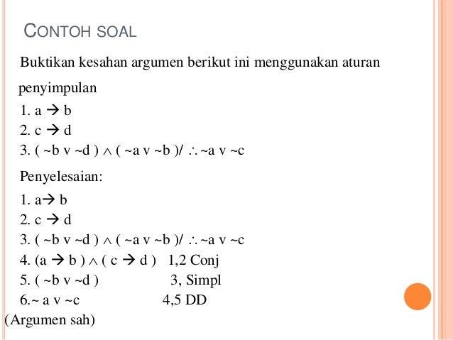 Contoh Soal Dan Jawaban Matematika Tentang Argumentasi