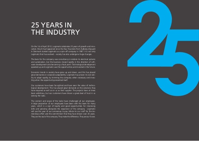 Logimatic corporate anniversary brochure