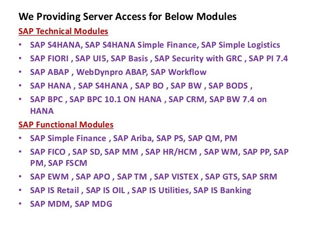 SAP HANA SERVER ACCESS | SAP HANA ACCESS