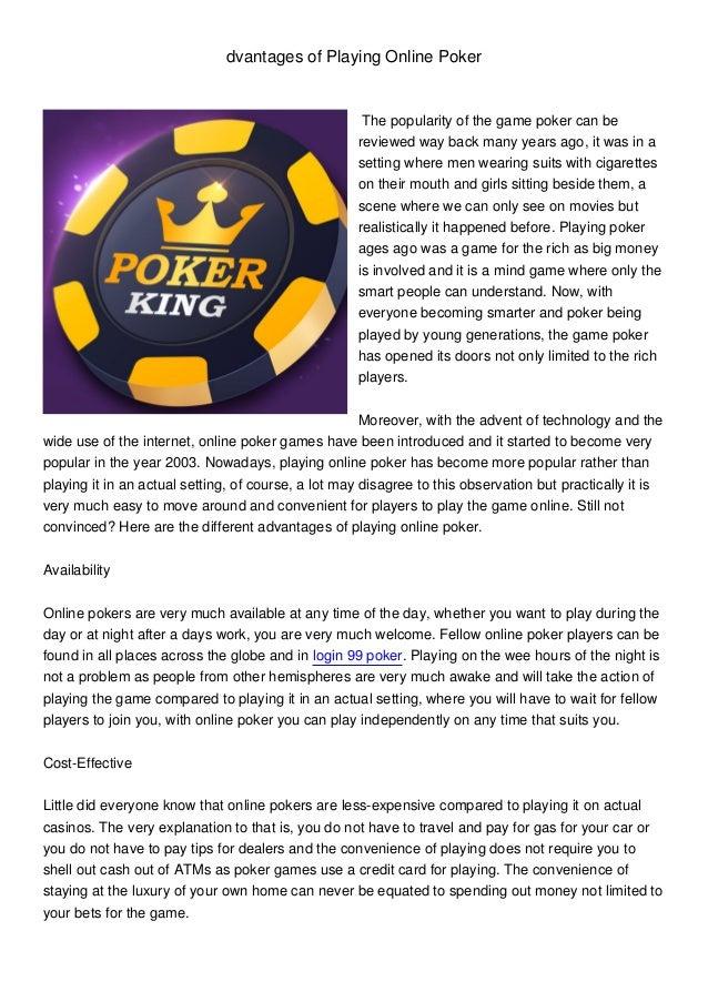 Login 99 Poker