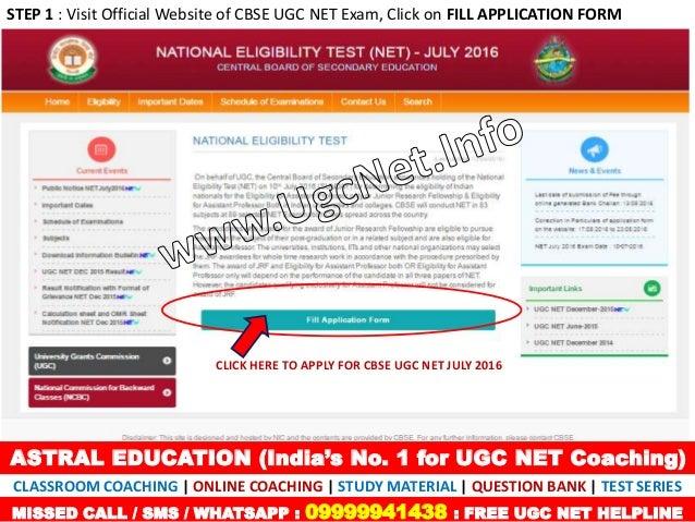 Ugc net online form last date in Brisbane