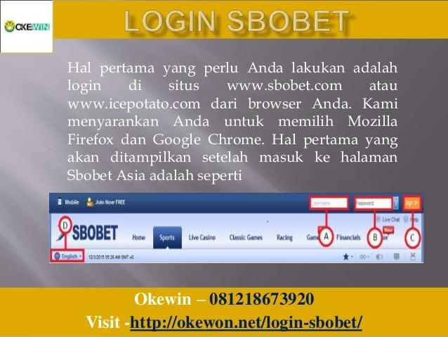 Login Sbobet