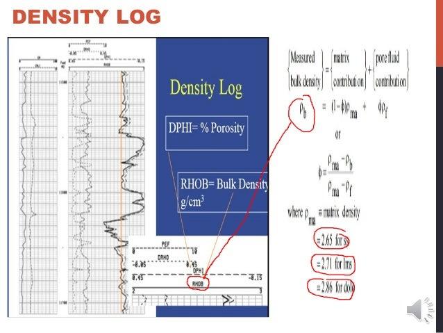 Log interpretation slidepack