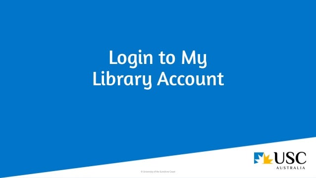 Login to My Library Account