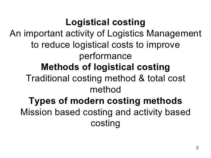 Logis costing for Tradition logis 38