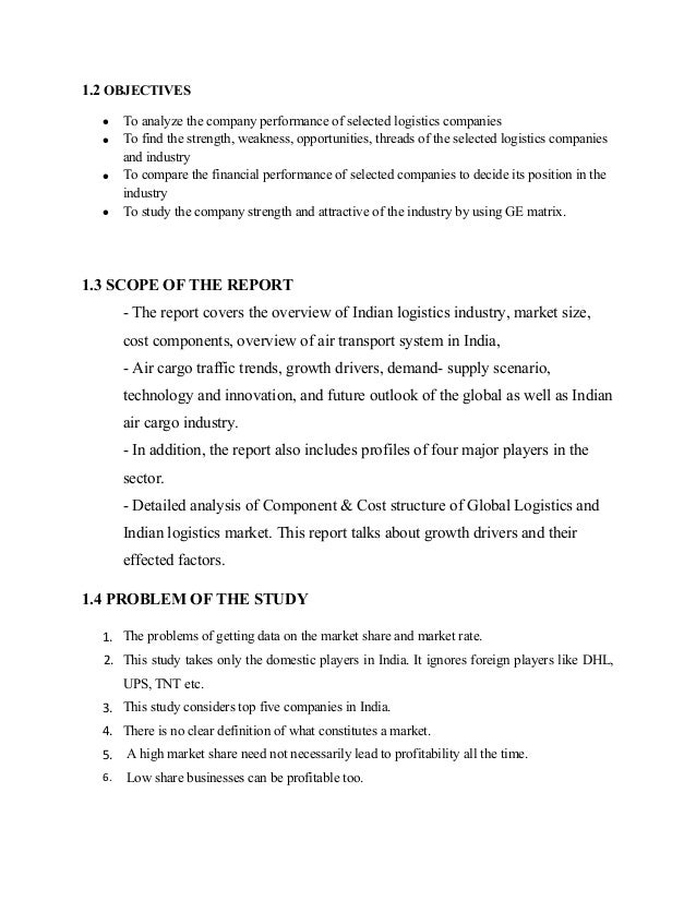 Logisitics, industry analysis,