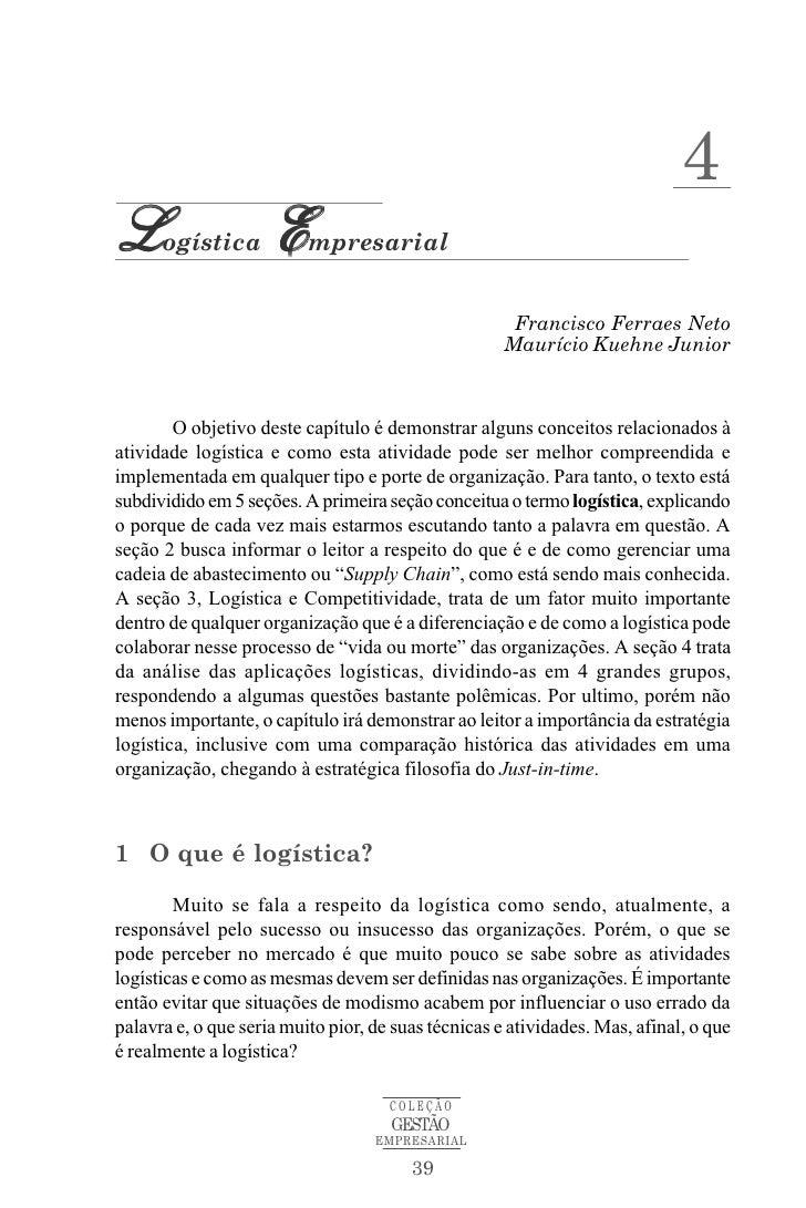 4L     ogística       E    mpresarial                                                      Francisco Ferraes Neto         ...