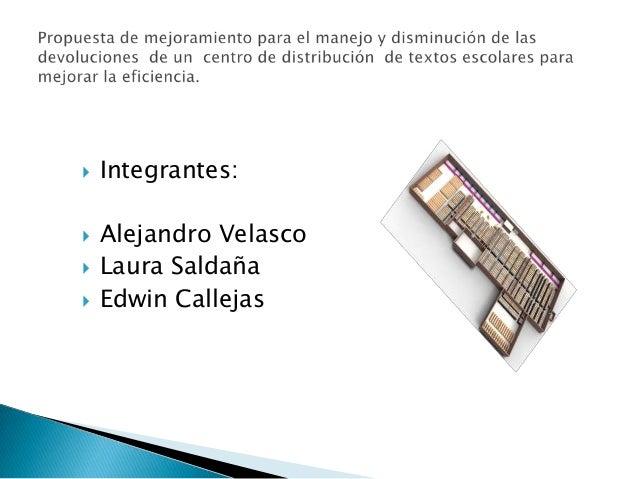    Integrantes:   Alejandro Velasco   Laura Saldaña   Edwin Callejas