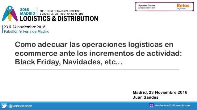 Como adecuar las operaciones logísticas en ecommerce ante los incrementos de actividad: Black Friday, Navidades, etc... Ma...