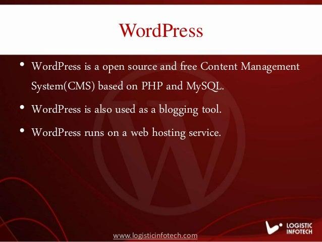 Logistic Infotech - Best WordPress Website Development Service Provid… slideshare - 웹