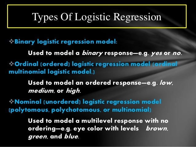 Logistic regression with SPSS examples