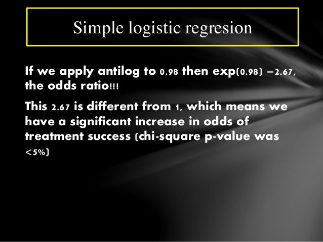logistic regression spss how to write results