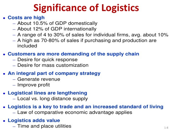 importance of logistics and supply chain In this post learn about the evolution and history of supply chain management very important supply chain and logistics planning is still primarily based.
