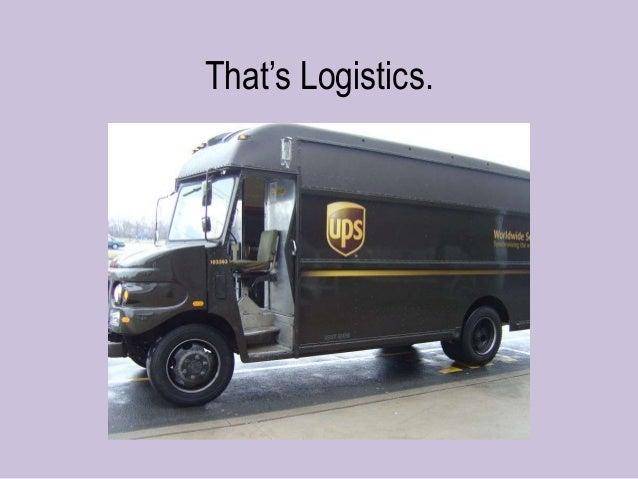 """That""""s Logistics."""