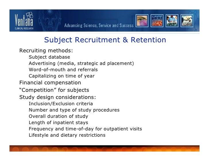 Recruiting Study Subjects - Information Sheet