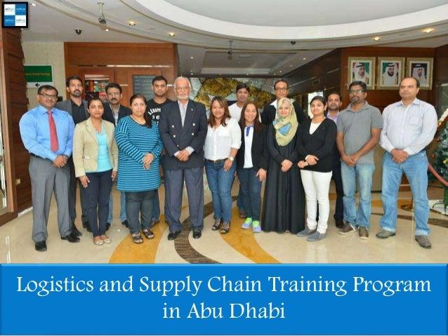 Logistics and Supply Chain Training Program in Abu Dhabi