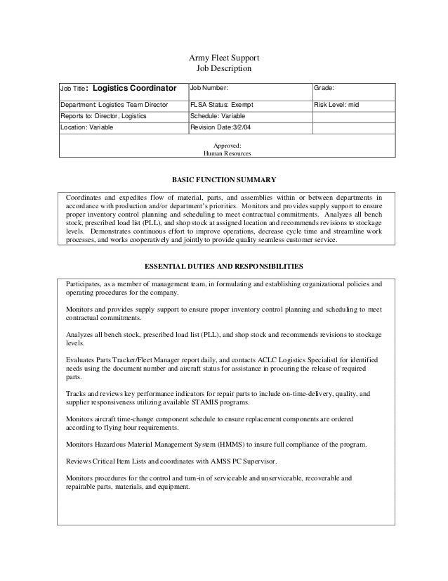 Logistics Manager Job Description. Careers Advice / Job ...