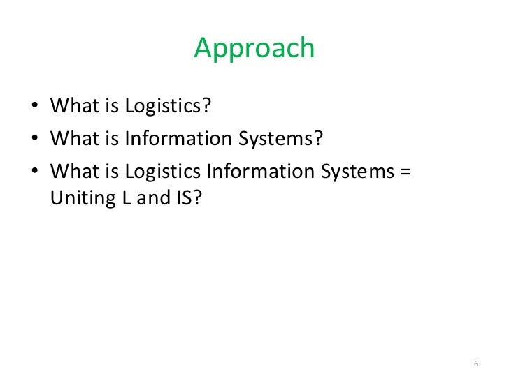 logistics information systems And logistics information systems unescap - expert group meeting on logistics information service systems 1 desmond tay 10 december 2015 agenda.