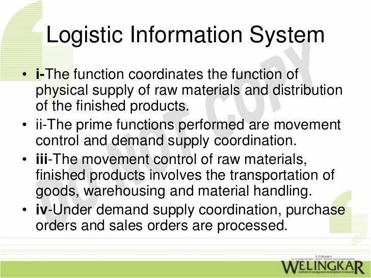 logistics information system. Black Bedroom Furniture Sets. Home Design Ideas