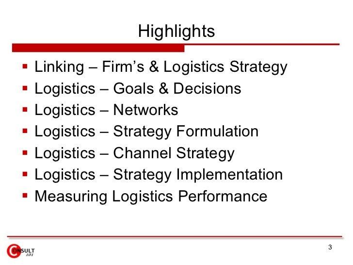 Logistics Management Slide 3