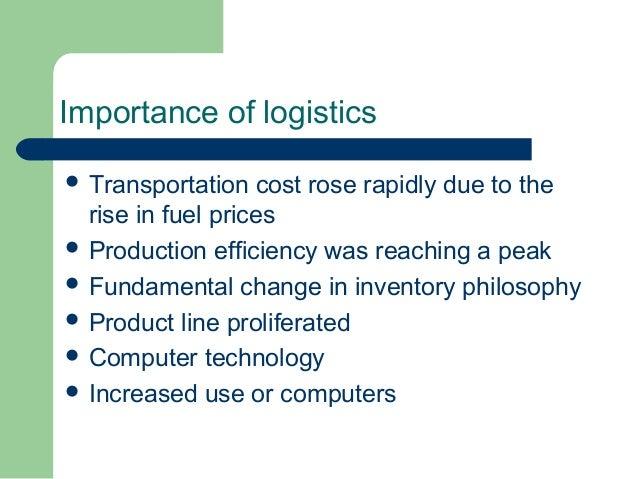 Importance of logistics management ppt