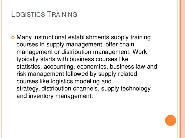 Logistics project management training
