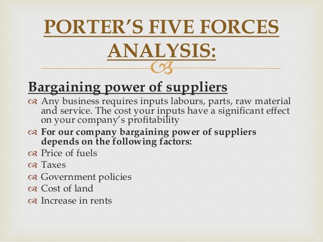 random porter five forces The golden rule of the theory of the porter's five forces of competition is the following: the weaker the influence of competitive forces, the more opportunities for obtaining a high profit in the industry.