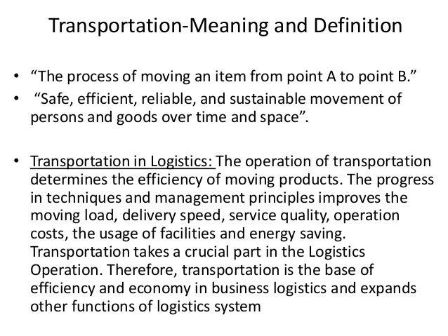 Logistics Transportation