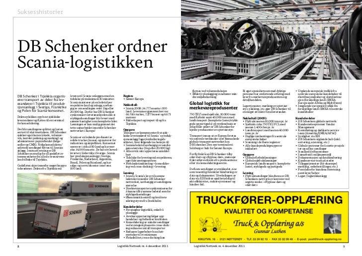 SuksesshistorierDB Schenker ordnerScania-logistikken                                                                      ...