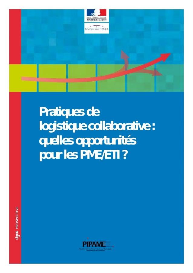 ccoprospective Pratiques de logistique collaborative : quelles opportunités pour les PME/ETI ?