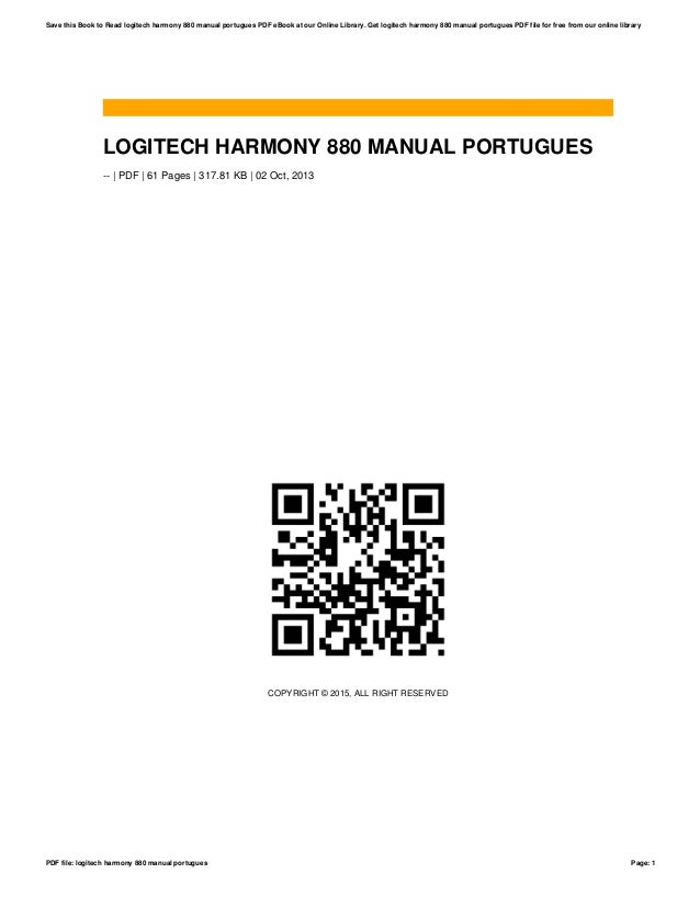 logitech harmony 880 manual portugues rh slideshare net Harmony 880 Battery Logitech Harmony 880 Remote