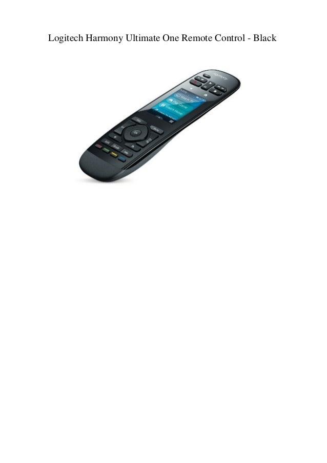 Logitech Harmony Ultimate One Remote Control - Black
