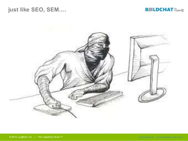 just like SEO, SEM…. © 2013, LogMeIn, Inc. | The Capability Cloud TM CONFIDENTIAL - FOR INTERNAL USE ONLY