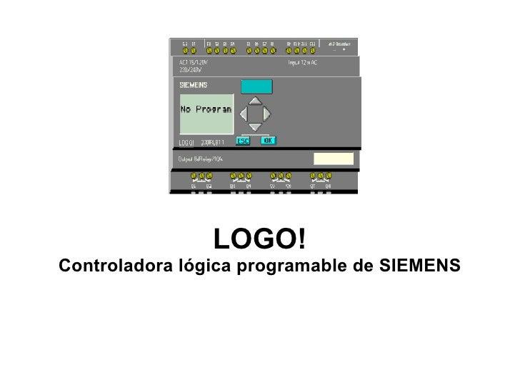LOGO! Controladora lógica programable de SIEMENS