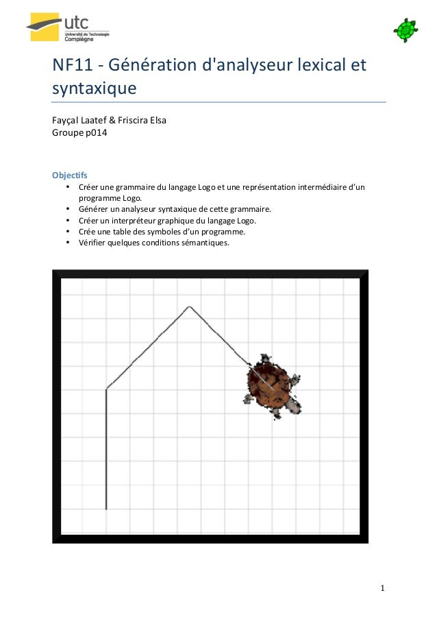 NF11 -‐ Génération danalyseur lexical et syntaxique Fayçal Laatef & Friscira Elsa  Groupe p0...