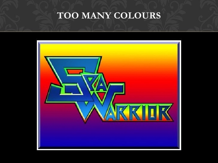 Image result for too many colours in a logo