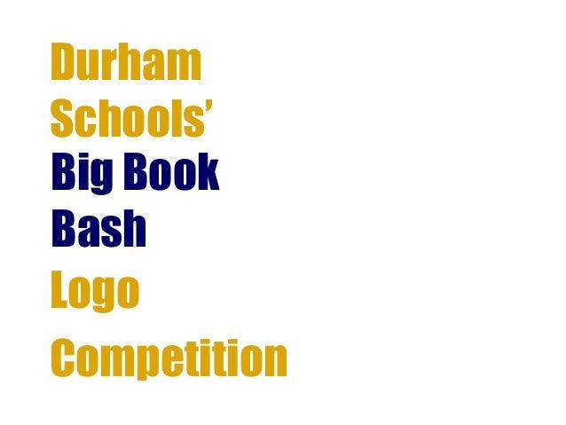 DurhamSchools'Big BookBashLogoCompetition