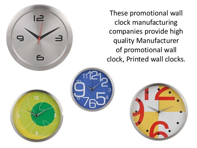 2 of promotional steel clocks promotional wall