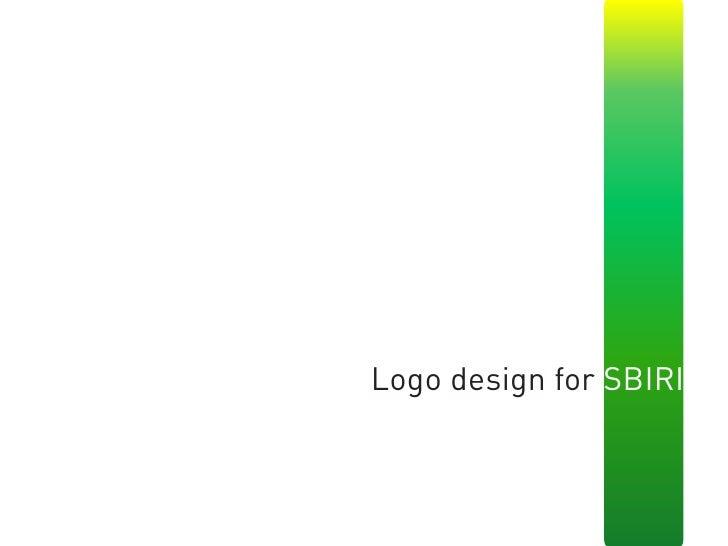 Logo design for SBIRI