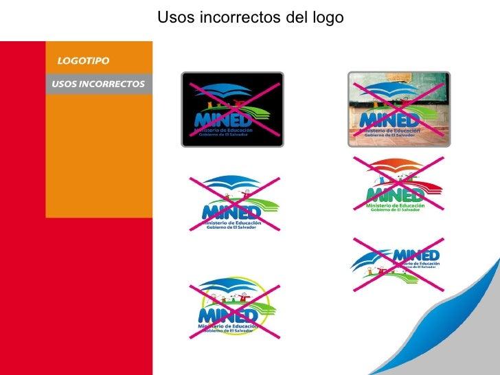 Usos incorrectos del logo