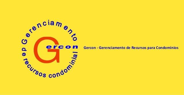 G Gercon - Gerenciamento de Recursos para Condomínios