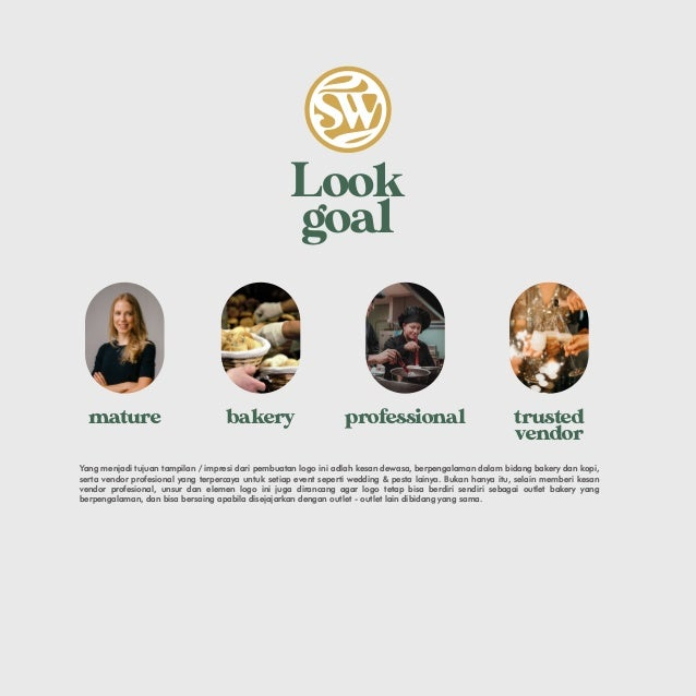 Look goal professional trusted vendor bakery mature Yang menjadi tujuan tampilan / impresi dari pembuatan logo ini adlah k...