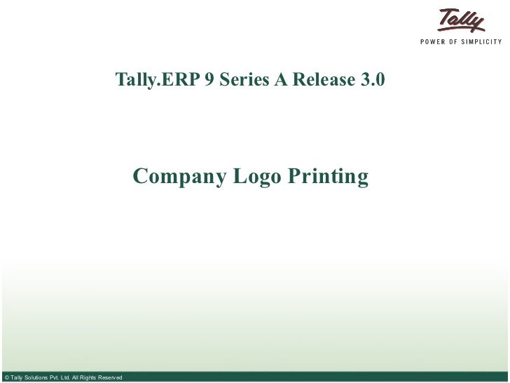 how to print logo on invoice in tally erp 9