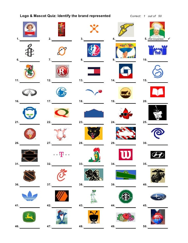 This is a graphic of Adaptable Printable Logo Quizzes