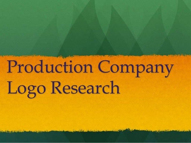 Production Company Logo Research