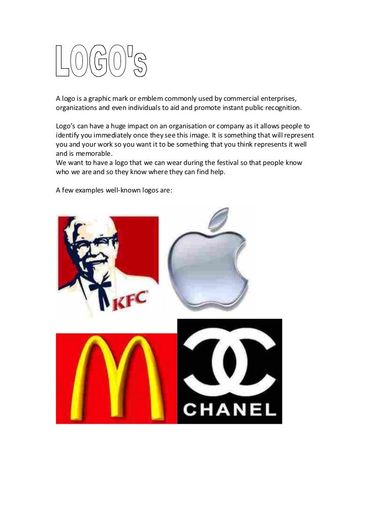 A logo is a graphic mark or emblem commonly used by commercial enterprises,organizations and even individuals to aid and p...